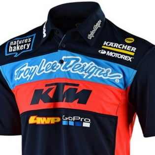 Troy Lee Designs Team KTM Navy Pit Shirt Image 2