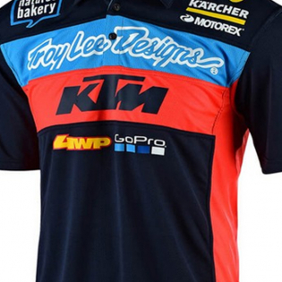 Troy Lee Designs Team KTM Navy Pit Shirt Image 3