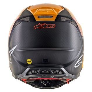 Alpinestars Supertech SM10 Dyno Black Orange Helmet Image 2