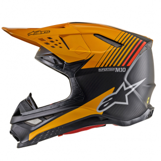 Alpinestars Supertech SM10 Dyno Black Orange Helmet Image 3