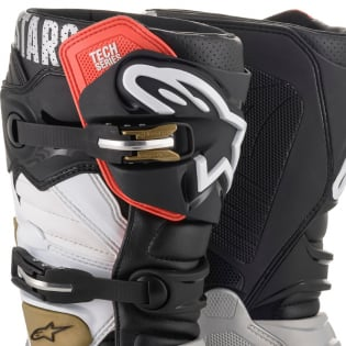 Alpinestars Tech 7 Black Silver White Gold Boots Image 2