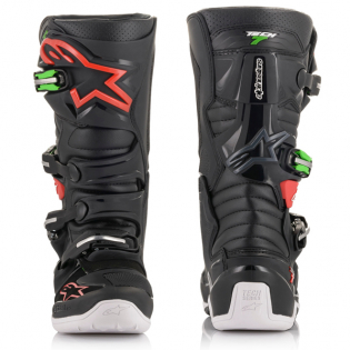 Alpinestars Tech 7 Black Red Green Boots Image 2