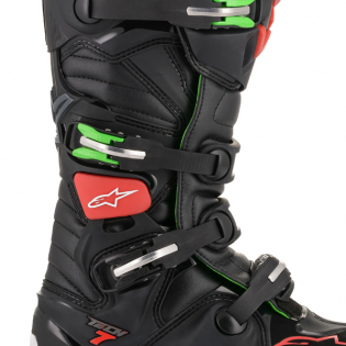 Alpinestars Tech 7 Black Red Green Boots Image 3