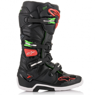 Alpinestars Tech 7 Black Red Green Boots Image 4