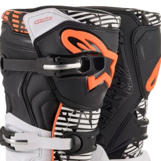 Alpinestars Tech 5 White Black Orange Fluo Boots Image 2