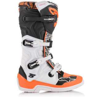 Alpinestars Tech 5 White Black Orange Fluo Boots Image 3