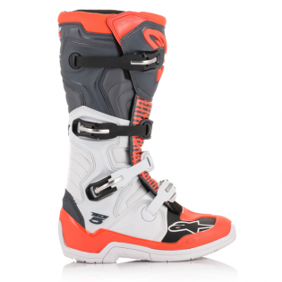 Alpinestars Tech 5 White Grey Fluo Red Boots Image 3