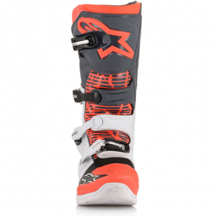 Alpinestars Tech 5 White Grey Fluo Red Boots Image 4