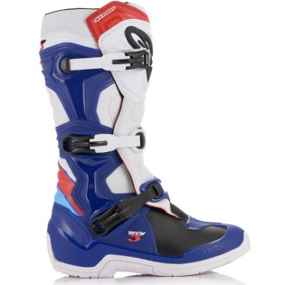 Alpinestars Tech 3 Blue White Red Boots Image 4