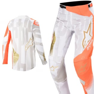 Alpinestars Techstar Factory Metal Wht Orange Gold Jersey Image 4