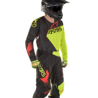 Alpinestars Techstar Factory Black Yellow Red Kit Combo Image 2