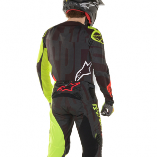 Alpinestars Techstar Factory Black Yellow Red Kit Combo Image 3