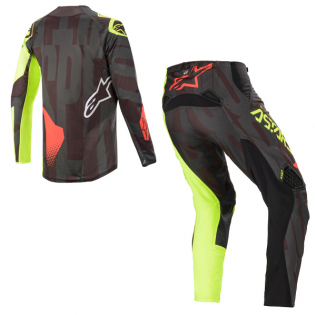 Alpinestars Techstar Factory Black Yellow Red Kit Combo Image 4