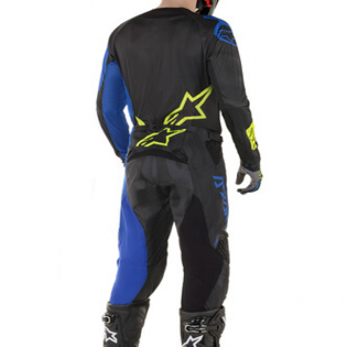 Alpinestars Techstar Factory Black Blue Yellow Fluo Pants Image 3