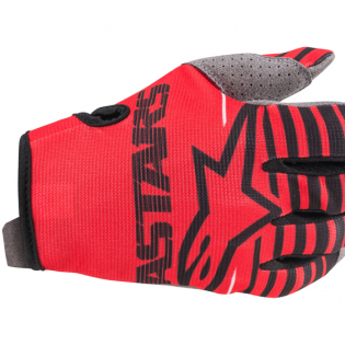 Alpinestars Radar Bright Red Black Gloves Image 2