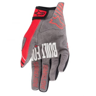 Alpinestars Radar Bright Red Black Gloves Image 4