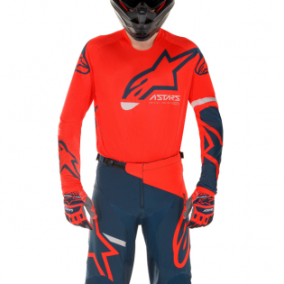 Alpinestars Racer Tech Compass Red Navy Pants Image 2