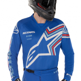 Alpinestars Racer Braap Blue White Pants Image 2