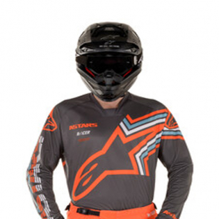 Alpinestars Racer Braap Grey Orange Fluo Jersey Image 2