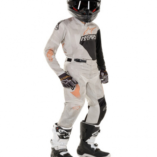 Alpinestars Kids Racer Factory Grey Black Rust Kit Combo Image 2