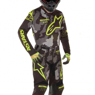 Alpinestars Kids Racer Tactical Black Grey Yellow Jersey Image 2