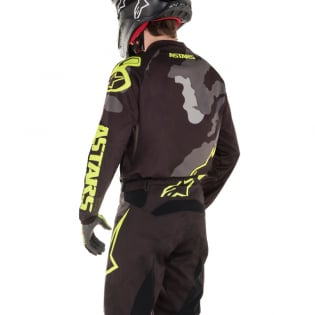 Alpinestars Kids Racer Tactical Black Grey Yellow Jersey Image 3