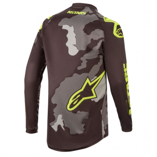 Alpinestars Kids Racer Tactical Black Grey Yellow Jersey Image 4