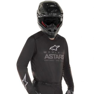 Alpinestars Kids Racer Graphite Black Grey Jersey Image 2