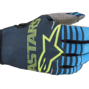 Alpinestars Kids Radar Navy Aqua Gloves Image 2