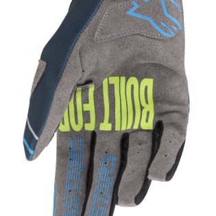 Alpinestars Kids Radar Navy Aqua Gloves Image 4