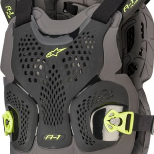 Alpinestars A1 Plus Black Anthracite Yellow Chest Protector Image 2