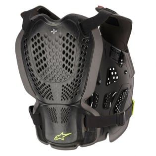 Alpinestars A1 Plus Black Anthracite Yellow Chest Protector Image 3