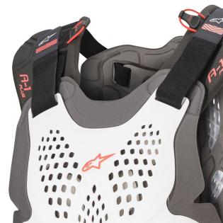 Alpinestars A1 Plus White Anthracite Red Chest Protector Image 2
