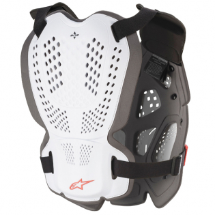 Alpinestars A1 Plus White Anthracite Red Chest Protector Image 3
