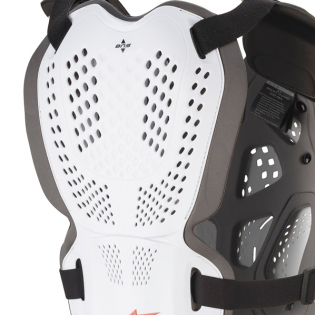 Alpinestars A1 Plus White Anthracite Red Chest Protector Image 4