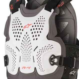 Alpinestars A4 Max White Anthracite Red Chest Protector Image 2