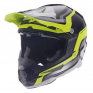 6D ATR-1 Fuse Yellow Black Helmet