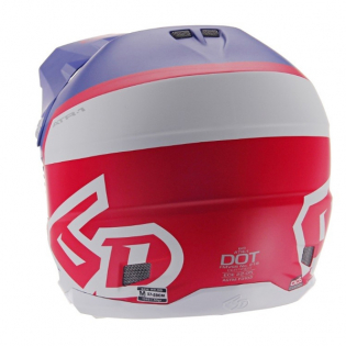 6D ATR-1 Flight Red White Blue Helmet Image 3