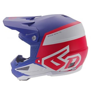 6D ATR-1 Flight Red White Blue Helmet Image 4
