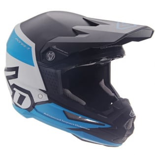 6D ATR-1 Flight Black Blue Helmet Image 2