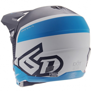 6D ATR-1 Flight Black Blue Helmet Image 3