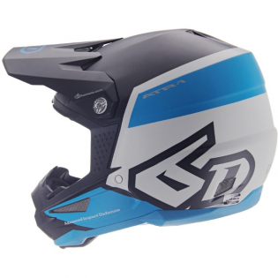 6D ATR-1 Flight Black Blue Helmet Image 4
