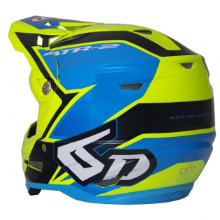 6D ATR-2 Strike Yellow Blue Helmet Image 4