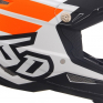 6D ATR-2 Stripe Orange White Helmet