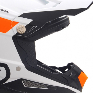 6D ATR-2 Stripe Orange White Helmet Image 4