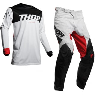 Thor Pulse Air Factor White Red Jersey Image 2