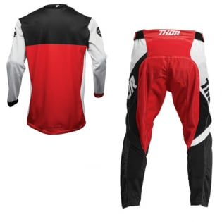 Thor Pulse Air Factor White Red Jersey Image 4