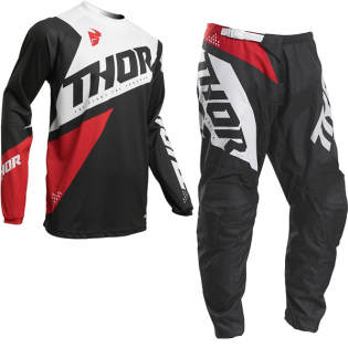 Thor Kids Sector Blade Charcoal Red Pants Image 2