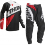 Thor Kids Sector Blade Charcoal Red Pants