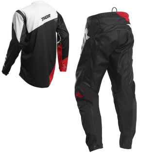 Thor Kids Sector Blade Charcoal Red Pants Image 4